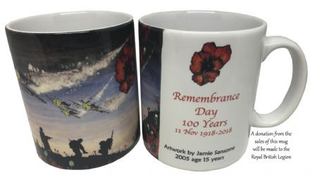 100 Years Remembrance  Armistice Day Commemorative MUG